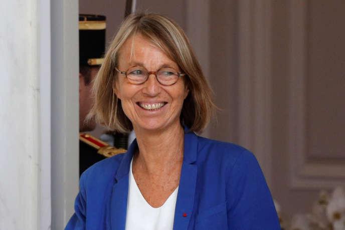 La ministre de la culture Françoise Nyssen à l'Elysée à Paris, le 31 août 2018.