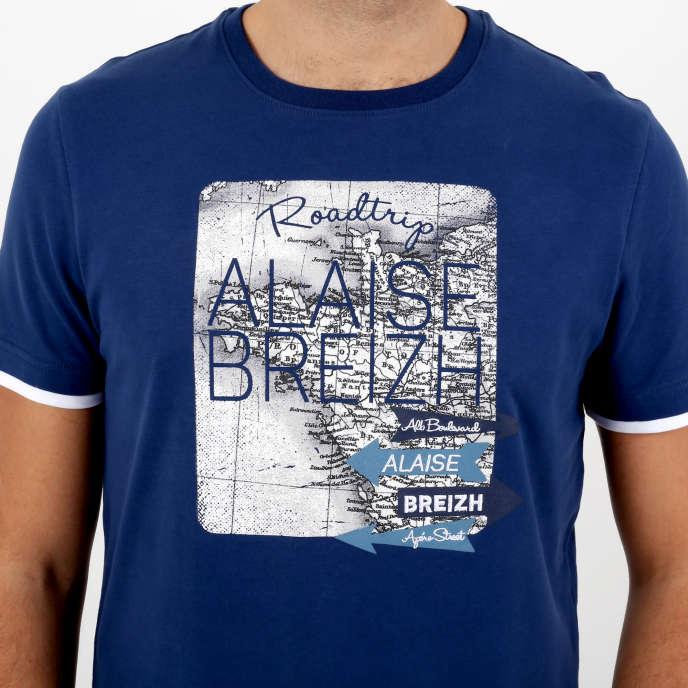 Tee-shirt de la marque Al'aise Breizh, fabriqué à Morlaix, dans le Finistère.