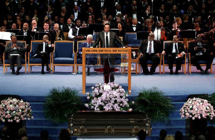 Les funérailles d'Aretha Franklin, le 31 août, à Detroit.