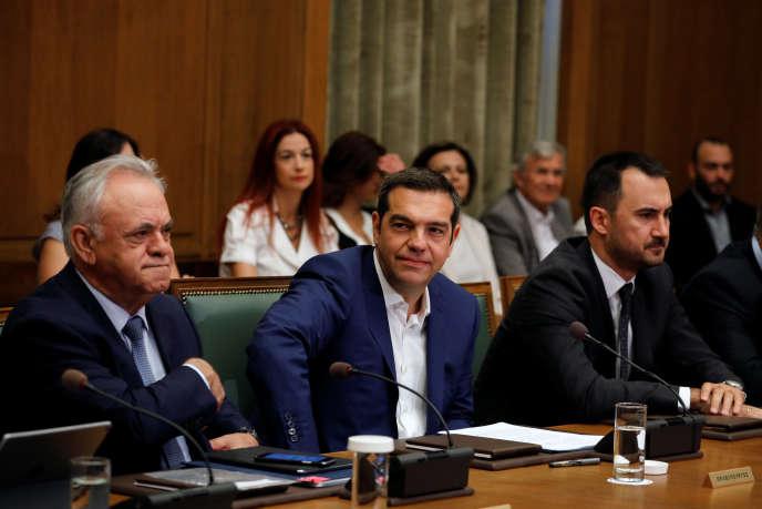 Alexis Tsipras, le premier ministre grec à Athénes le 31 août 2018.