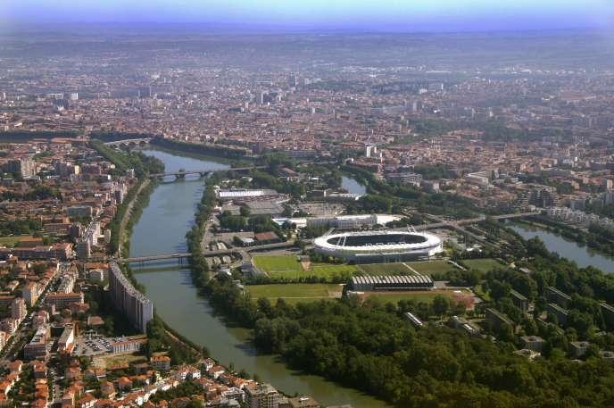 Vue aérienne de Toulouse.