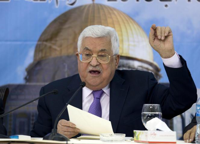 Le président de l'Autorité palestinienne, Mahmoud Abbas, le 15 août à Ramallah.