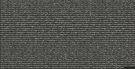"""Cet article encodé avec le procédé """"base 64""""."""