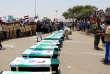 Les funérailles des victimes de la frappe aérienne du 9 août dans la province de Saada, au Yémen.