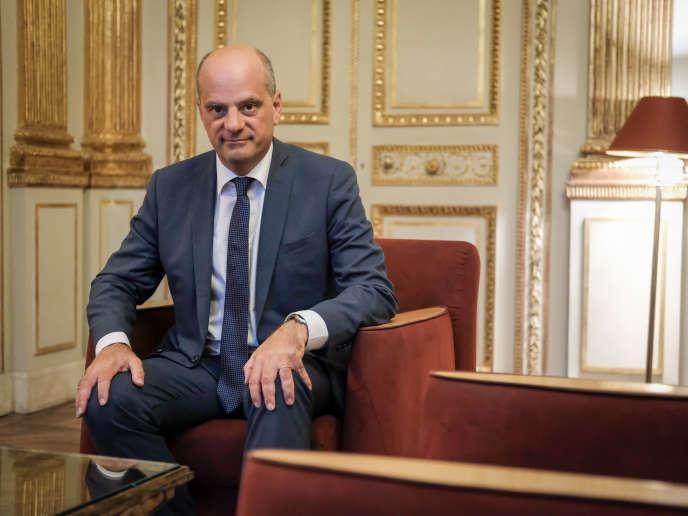 Jean-Michel Blanquer au ministère de l'éducation nationale, le 29 août 2018.
