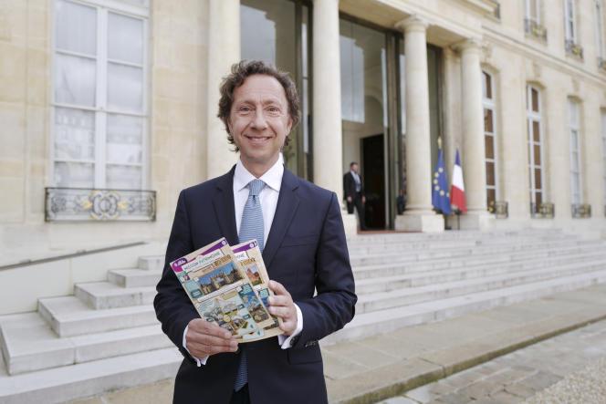 Stéphane Bern présentait en mai 2018 son loto du patrimoine.