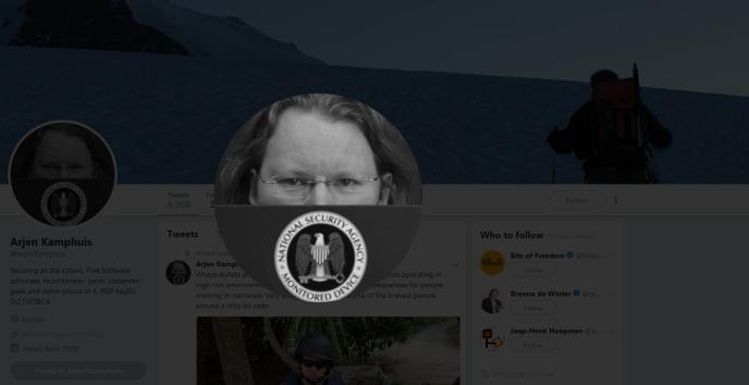 Le compte Twitter d'Arjen Kamphuis.