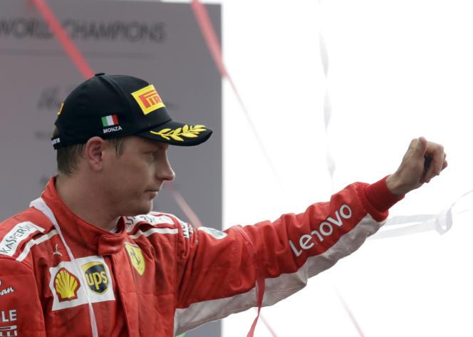 Parti en pole, «Ice Man» sauve l'honneur de Ferrari à Monza le 2 septembre, en terminant deuxième.