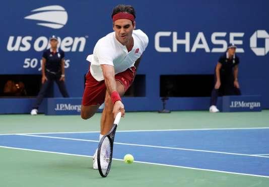 Roger Federer lors du troisième tour de l'US Open, le 1er septembre 2018.