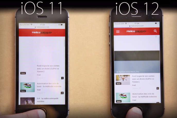 La bêta d'iOS 12 se montre à peine plus rapide que la version actuelle, iOS 11.4.1.