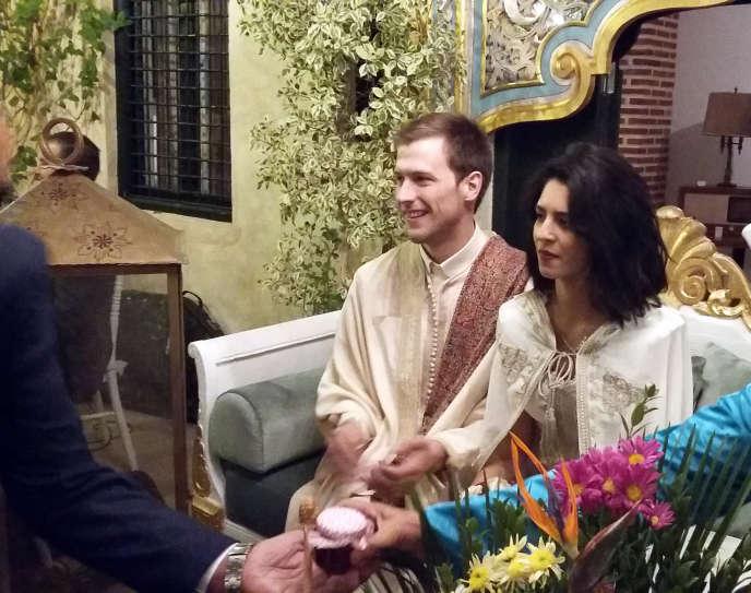 Lors d'un mariage mixte en Tunisie.