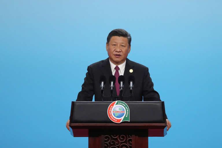 Le président chinois Xi Jinping lors de l'ouverture du sommet Chine-Afrique, à Pékin, le 3 septembre 2018.