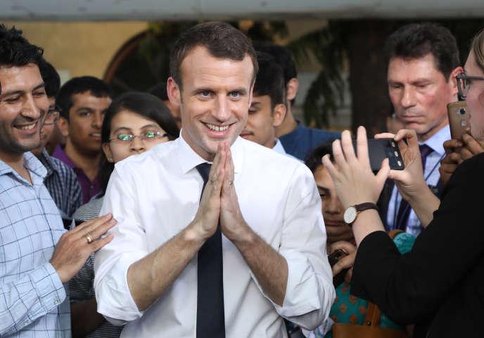 Emmanuel Macron, à New Delhi, le 10 mars.