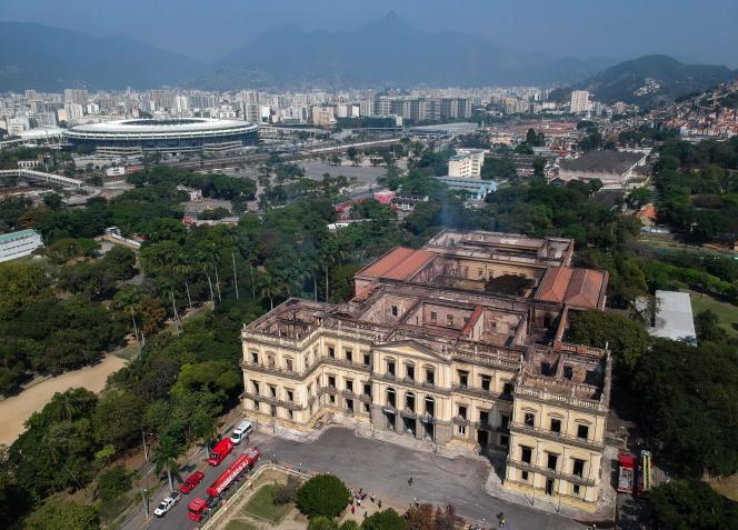 Vue aérienne du musée à Rio, le 3 septembre.
