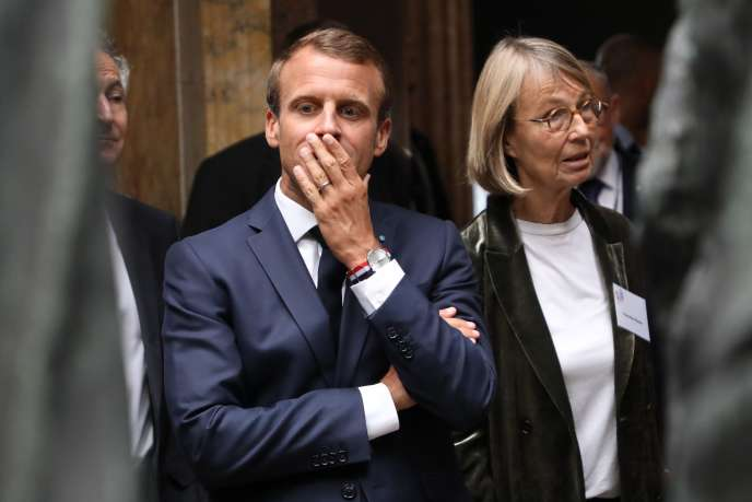 Emmanuel Macron et Françoise Nyssen, ministre de la culture, à Copenhague, le 29août.
