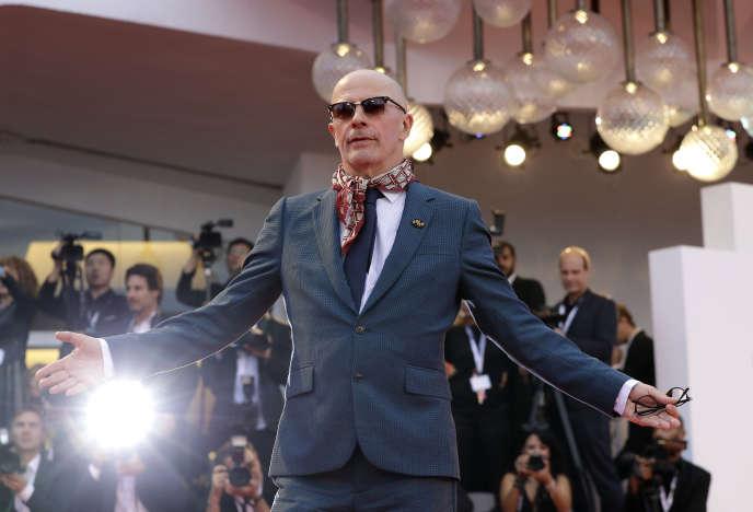 Le réalisateur Jacques Audiard lors de la présentation de son film «Les Frères Sisters», à la Mostra de Venise, le 2 septembre.