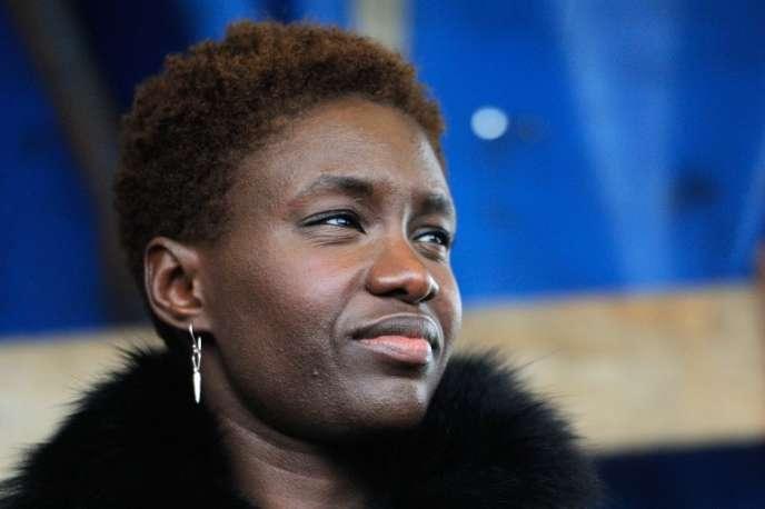 La militante antiraciste française Rokhaya Diallo, à Calais, en décembre 2014.