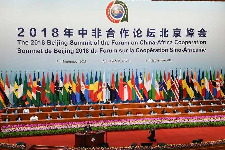 Discours d'ouverture du président Xi Jinping lors du Forum Chine-Afrique, à Pékin, le 3septembre 2018.
