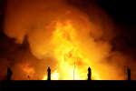 Le Musée national de Rio de Janeiro embrasé par un incendie, le 2 septemvre 2018.