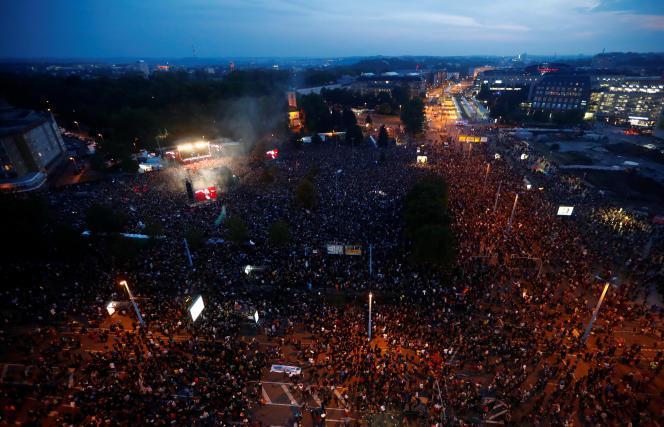 Une foule de 50 000 personnes s'est pressée pour voir les concerts gratuits.