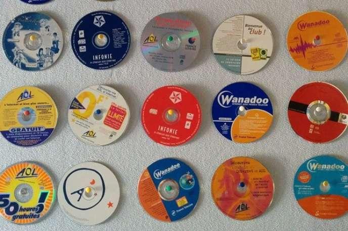 Les CD de fournisseurs d'accès à Internet des débuts.