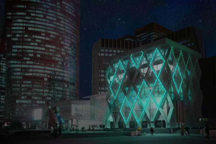 Bâtiment inspiré du biomimétisme marin.