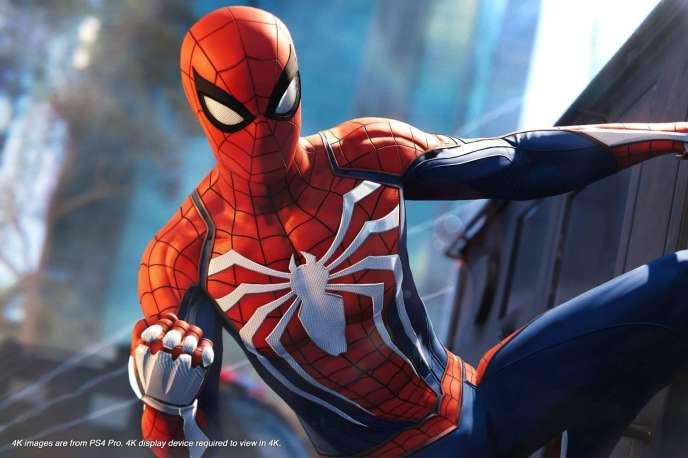 Sur sa prochaine console, les temps de chargement de« Spider-Man» seront divisés par 15, promet Sony. On ne le voit pas à cause du masque, mais Peter Parker est super content.