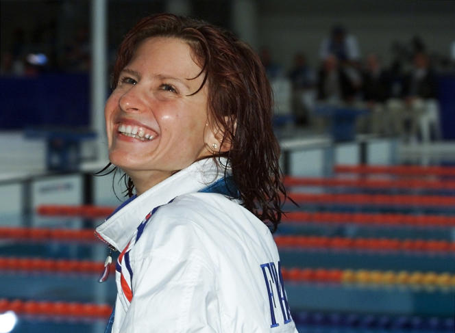 Roxana Maracineanu, en septembre 2000, aux Jeux olympiques de Sydney.