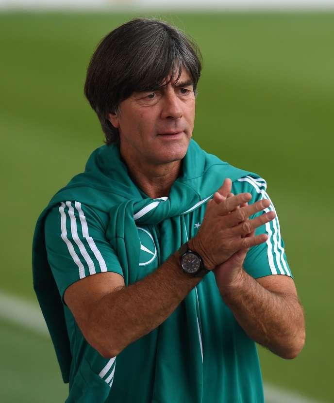 L'entraîneur allemand Joachim Loew à l'entraînement de l'équipe nationale allemande de football à Munich, dans le sud de l'Allemagne, le 4 septembre Le 6 septembre, l'Allemagne jouera dans la Ligue des nations de l'UEFA contre la France à Munich.