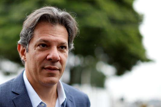 Le candidat du Parti des travailleurs, Fernando Haddad, le 3 septembre.