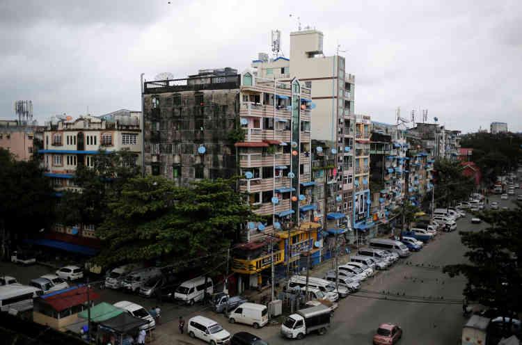 Le quartier de Mingalar Taung Nyunt, où vit une grande partie de la communauté musulmane de Rangoun. Les musulmans, 5 % de la population, n'ont pas eu le droitd'ouvrir de nouvelles mosquées depuis des décennies.