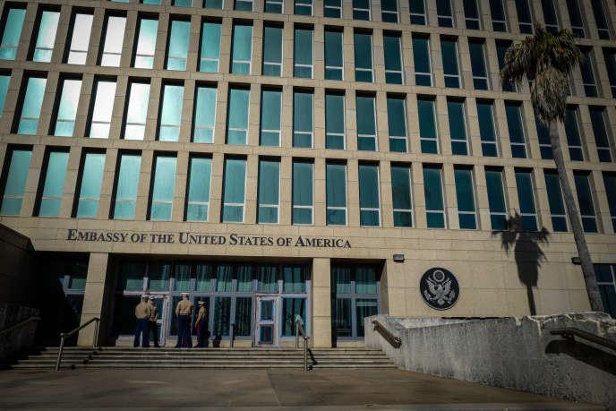 L'ambassade américaine à la Havane (ici en 2018), où desdiplomates ont subi des «incidents de santé» depuis la fin 2016.