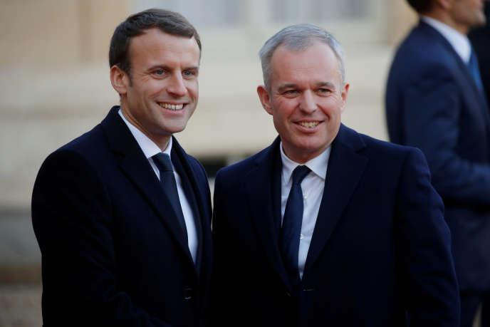 Emmanuel Macron et François de Rugy, à l'Elysée, en décembre 2017.