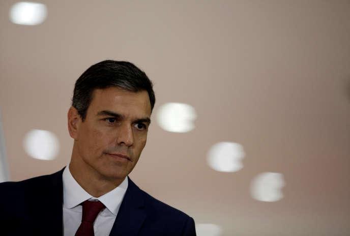 Le premier ministre espagnol, Pedro Sanchez, lors de sa visite au Costa Rica, le 31 août.