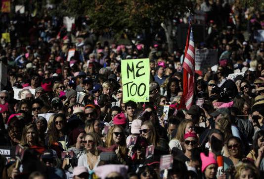 Une marche contre les violences sexuelles, le 20 janvier, à Los Angeles, aux Etats-Unis.