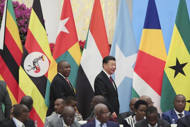 Le président chinois, Xi Jinping, et le président sud-africain, Cyril Ramaphosa, lors du Forum de la coopération sino-africaine, à Pékin, en septembre 2018.