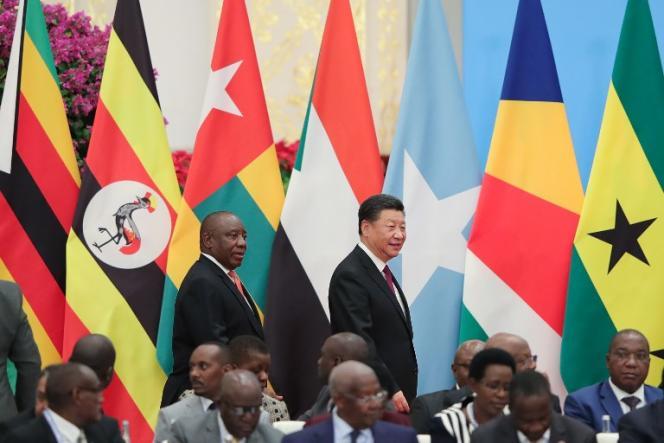 Les présidents chinois, Xi Jinping, et sud-africain, Cyril Ramaphosa, au Forum Chine-Afrique, à Pékin, le 4septembre 2018.