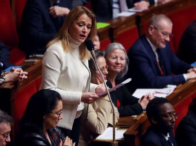 La députée LRM de Paris Olivia Grégoire, à l'Assemblée nationale, en février.