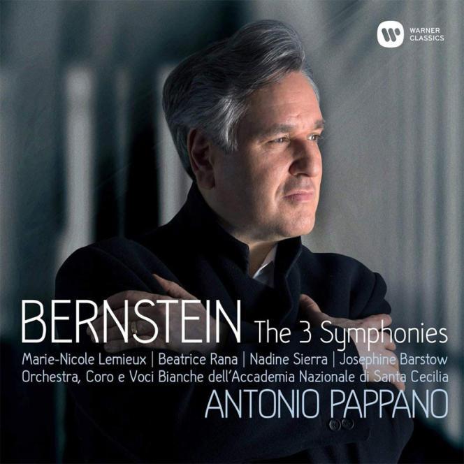 Pochette de l'album« Symphonies 1-3. Prélude, Fugue And Riffs », compositions de Leonard Bernstein.