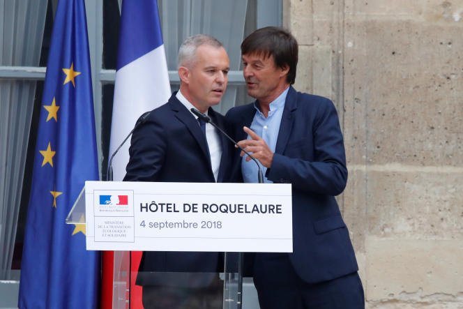 «Si les populations veulent pouvoir gérer la descente énergétique et matérielle qui vient en évitant le chaos, elles doivent désormais se constituer comme le premier et le plus puissant lobby du pays» (Nicolas Hulot et son successeur François de Rugy, le 4 septembre, à Paris).
