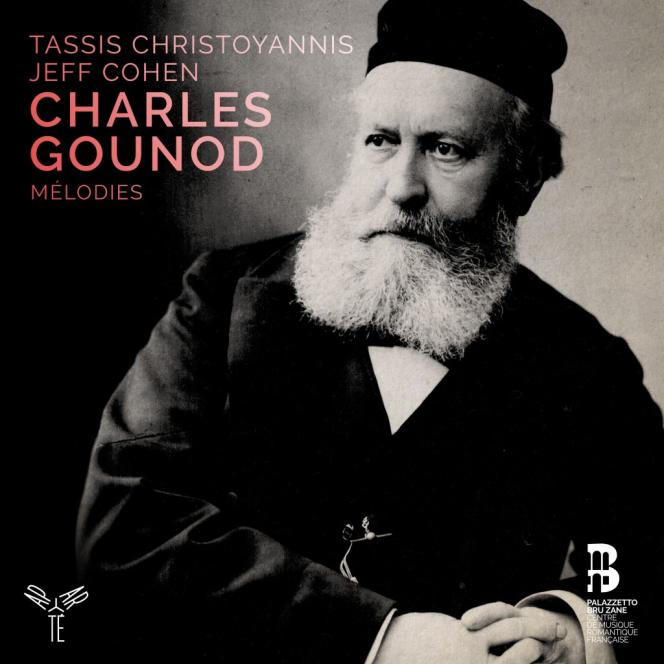 Pochette de l'album« Mélodies», compositions de Charles Gounod parTassis Christoyannis (baryton) et Jeff Cohen (piano).
