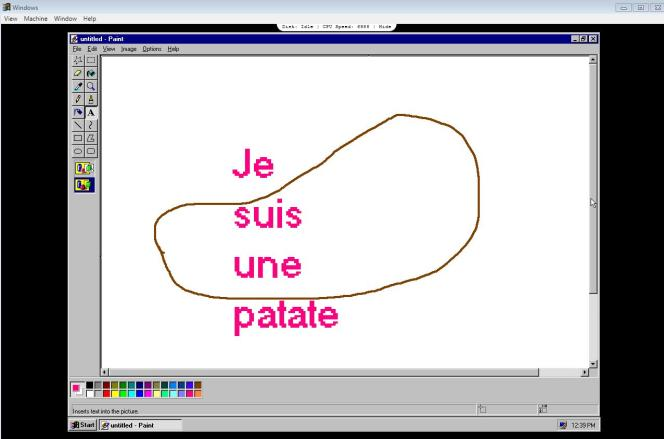 Œuvre libre réalisée sous Paintde Windows 95.