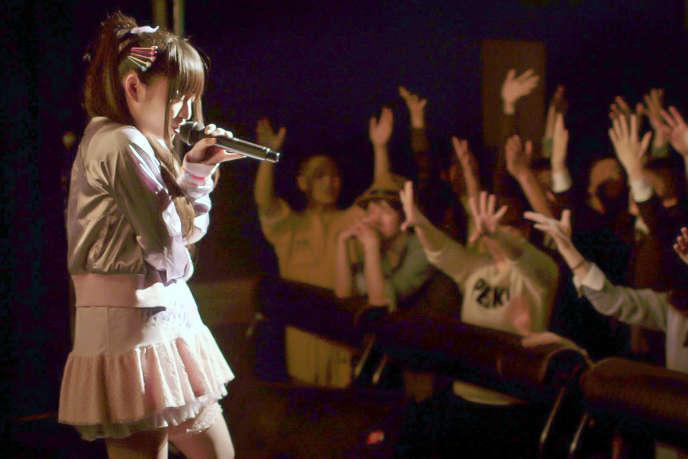 La chanteuse Rio lors d'un concert.
