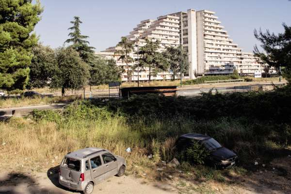 Le quartier populaire des Vele di Scampia, dans les faubourgs nord de Naples.