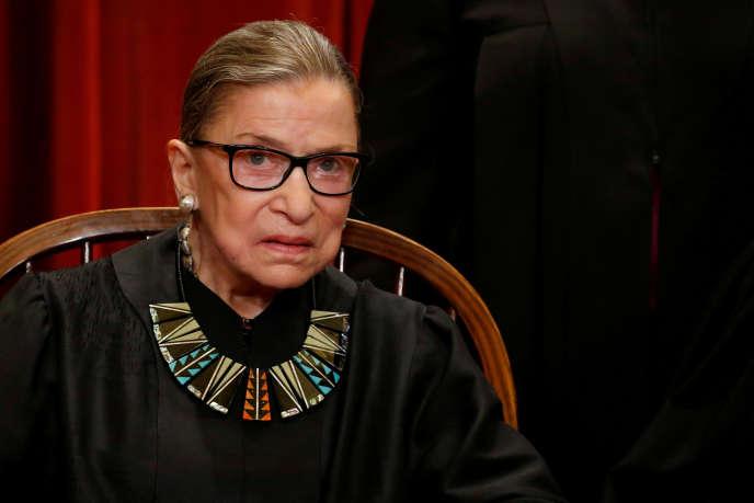 La juge de la Cour suprême américaine, Ruth Bader Ginsburg, à Washington, le 1er juin 2017.