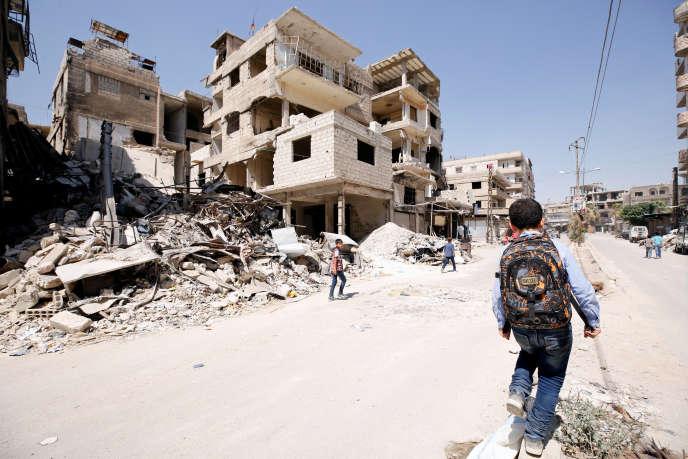 Dans la Ghouta orientale, le 5 septembre.