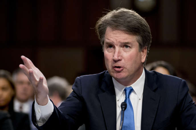 Le juge Brett Kavanaugh durant son audition par la commission judiciaire du Sénat américain, à Washington, le 5 septembre.