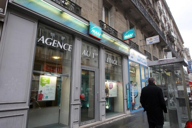 Une agence de la compagnie d'assurance MAAF, détenue par Covéa, en 2011, à Paris.
