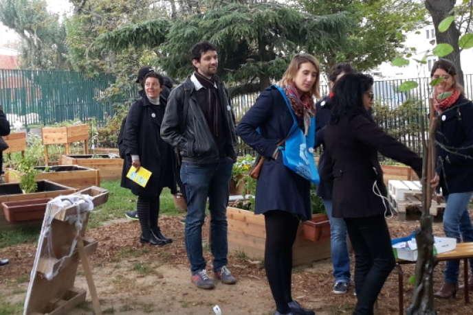 Le jardin partagé de 13 Avenir, entreprise à but d'emploi parisienne portée par l'association ATD Quart Monde.
