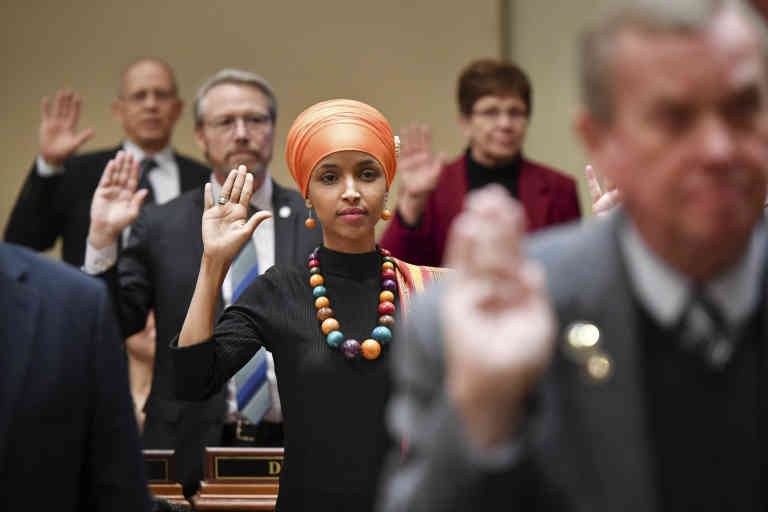 January 3, 2017 - Saint Paul, Minnesota, USA - Ilhan Omar, the First Somali-American US Legislator was sworn in at the Minnesota State Capitol for the first day of the legislative session. ] GLEN STUBBE * gstubbe@startribune.com Tuesday, January 3, 2017 The 2017 Minnesota legislative session officially gets underway at 12 noon, when the House and Senate gavel in to swear in new members and other ceremonial duties.